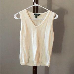 Ralph Lauren women's cream sweater vest